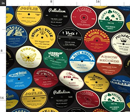 photograph regarding Printable Vinyl Record Labels named Jazz Data Material - All That Basic Audio Vinyl Heritage Labels Heritage Of Jenimp Musician Black Print upon Cloth as a result of the Backyard garden - Linen Cotton Canvas