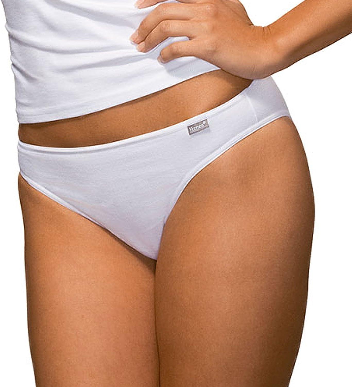 Hanes - Tangas - para mujer blanco Weiß: Amazon.es: Ropa y accesorios