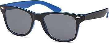 Eg-Fashion Wayfarer Kindersonnenbrille 2 farbig in 4 versch. Farben mit Gläsern in smoke