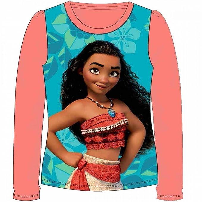 Vaiana - Camiseta de manga larga - para niña Bleu & Orange 2 años : Amazon.es: Ropa y accesorios
