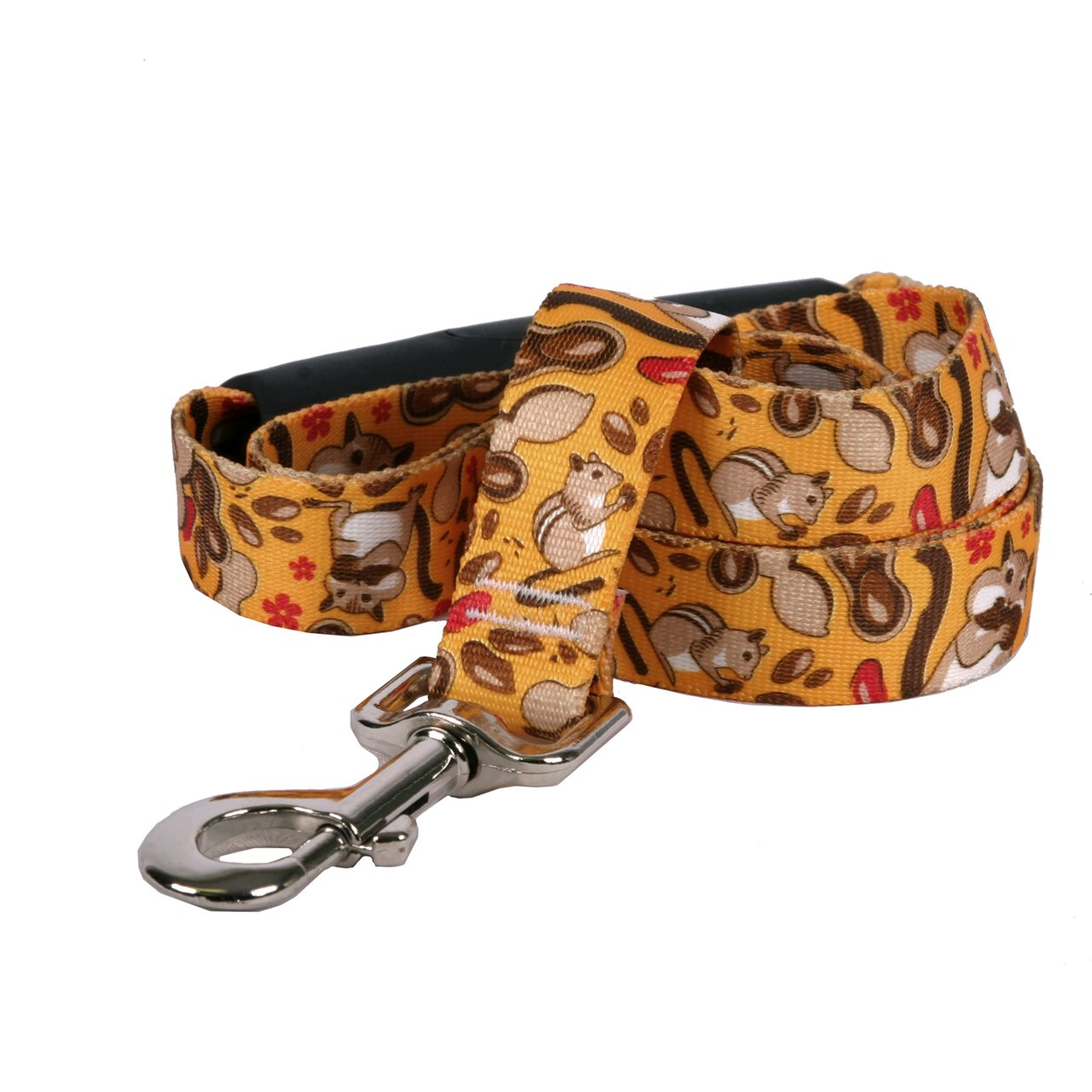 Yellow Dog Design Chipmunks Ez-Grip Dog Leash With Comfort Handle Large CHIP121