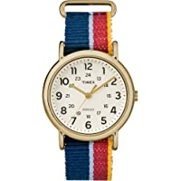 Timex Unisex TW2R101009J Weekender Multicolor Denim Slip-Thru Strap Watch