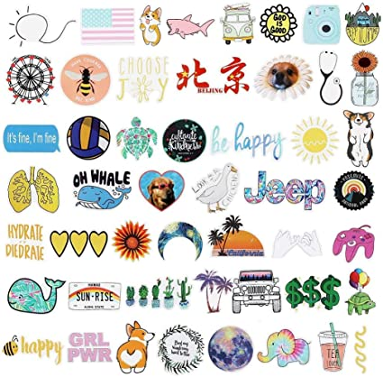 50 PCs Cute VSCO Stickers for Water Bottles Laptop FAST SHIPPING