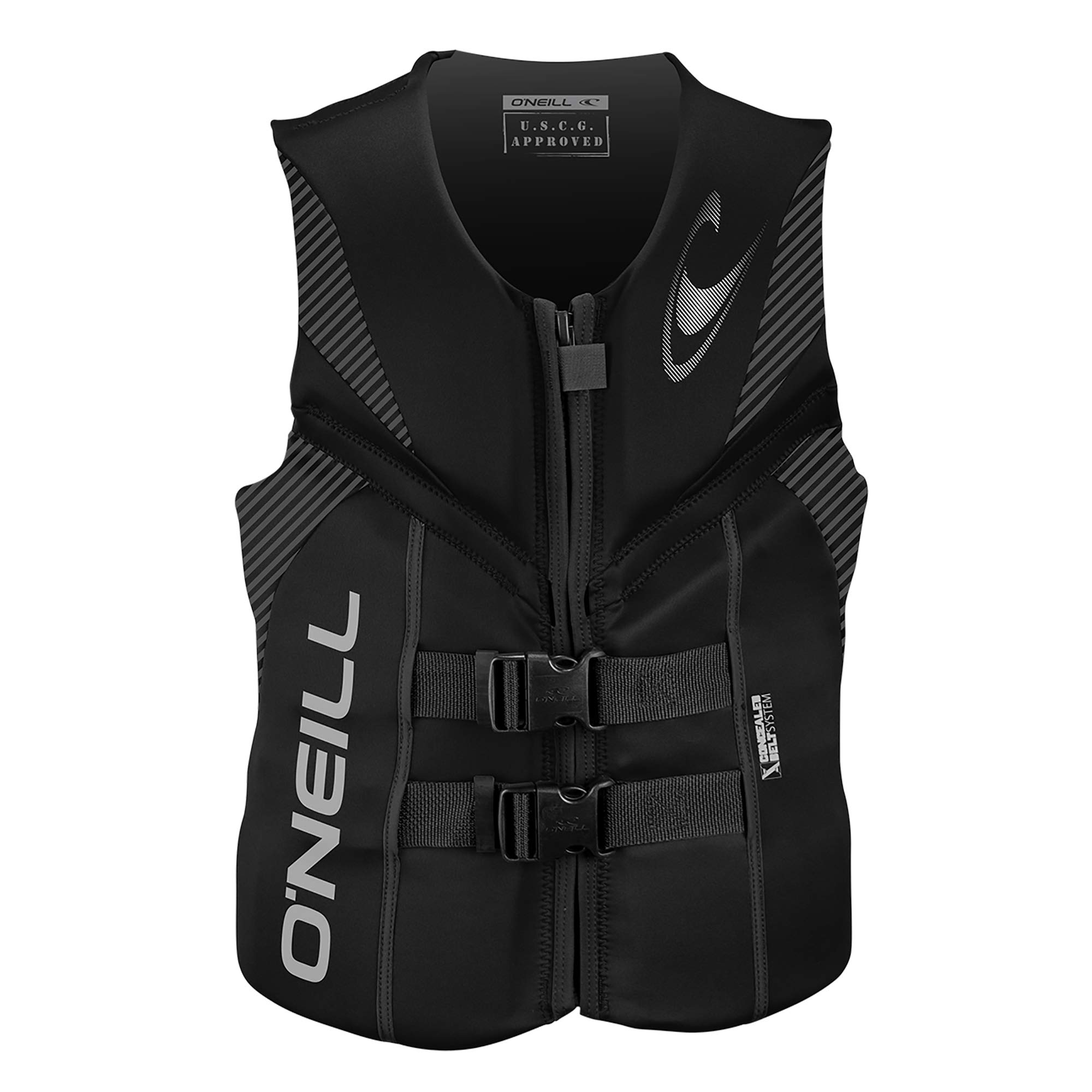 O'Neill  Men's Reactor USCG Life Vest, Black/Black/Black,Small by O'Neill Wetsuits
