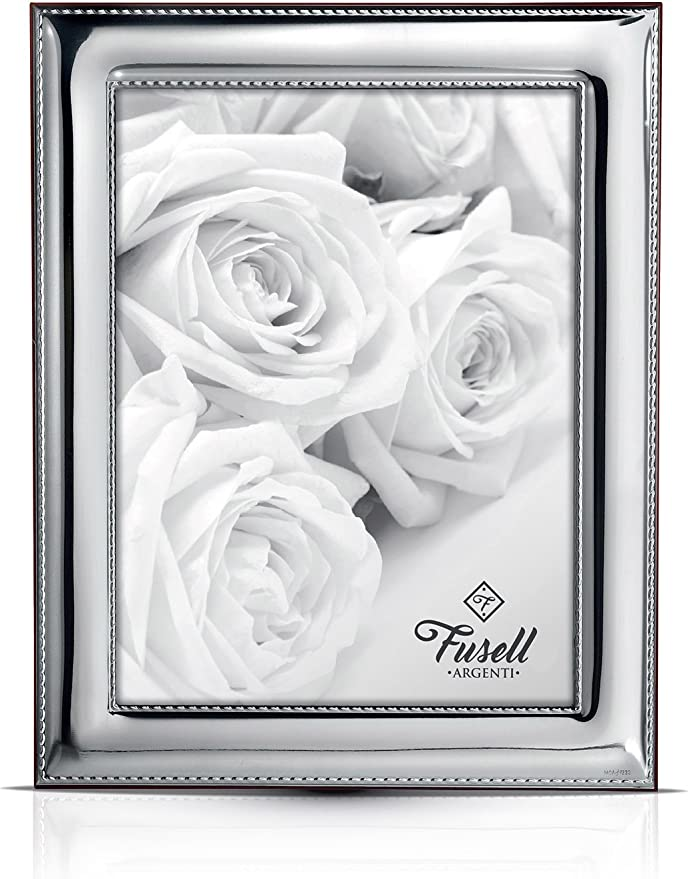 Handmade Sterling Silver Photo Picture Frame art ONDE  13x18 GB new