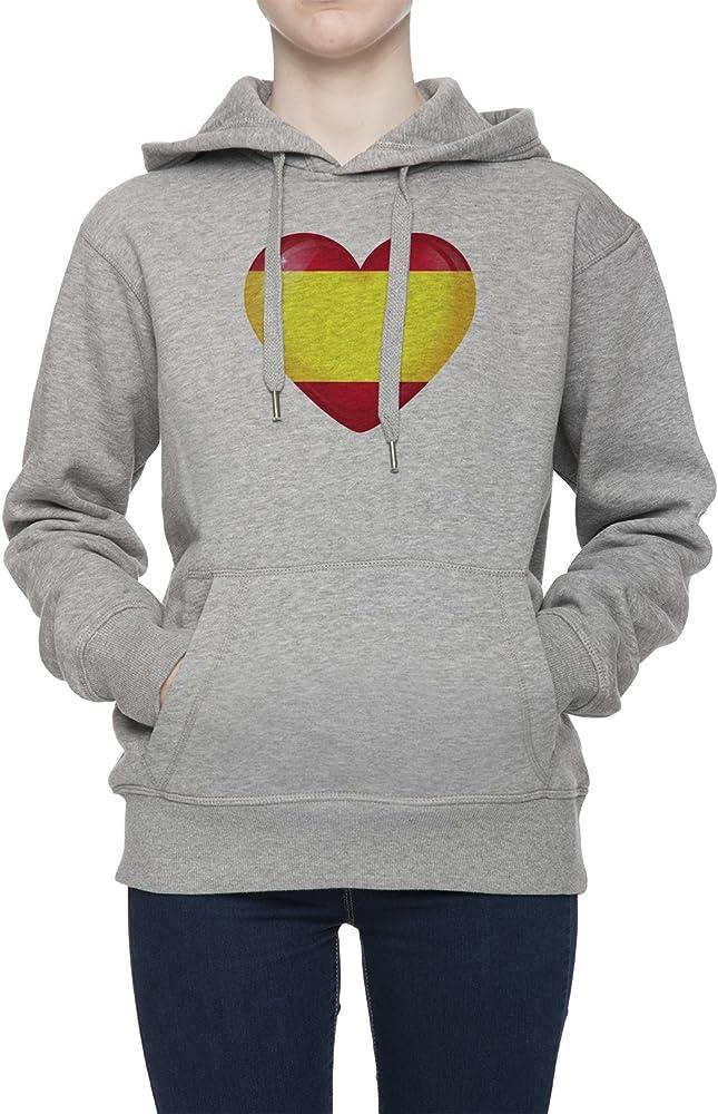 España Bandera Nacional Mujer Gris Sudadera Con Capucha Saltador Camisa De Rntrenamiento Capucha | Womens Grey Hoodie Jumper: Amazon.es: Ropa y accesorios