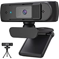 AutoFocus 1080P HD Webcam with Microphone & Privacy Cover, 2021 Upgraded USB Web Computer Camera, Plug and Play, for…