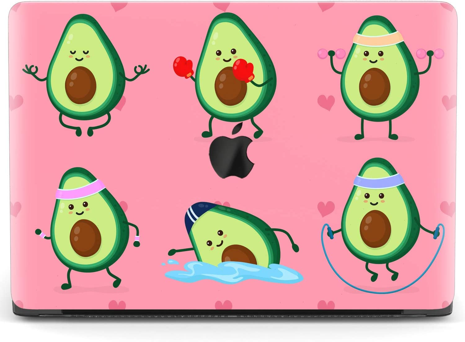 Mertak Hard Case for Apple MacBook Pro 16 Air 13 inch Mac 15 Retina 12 11 2020 2019 2018 2017 Sport Plastic Laptop Touch Bar Design Cartoon Exercise Clear Cover Fitness Avocado Print Protective Cute