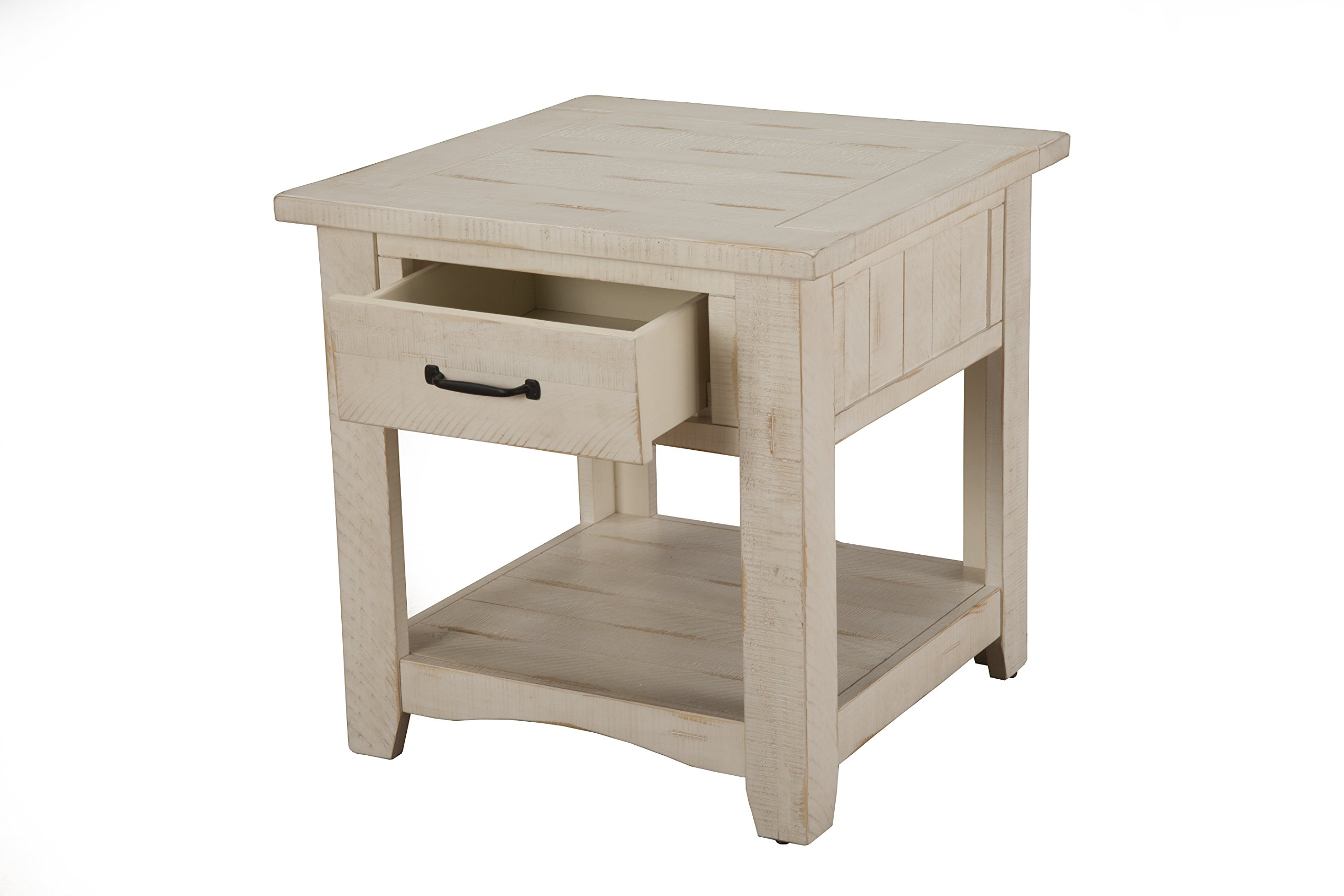 Martin Svensson Home 890133 Rustic End Table, Antique