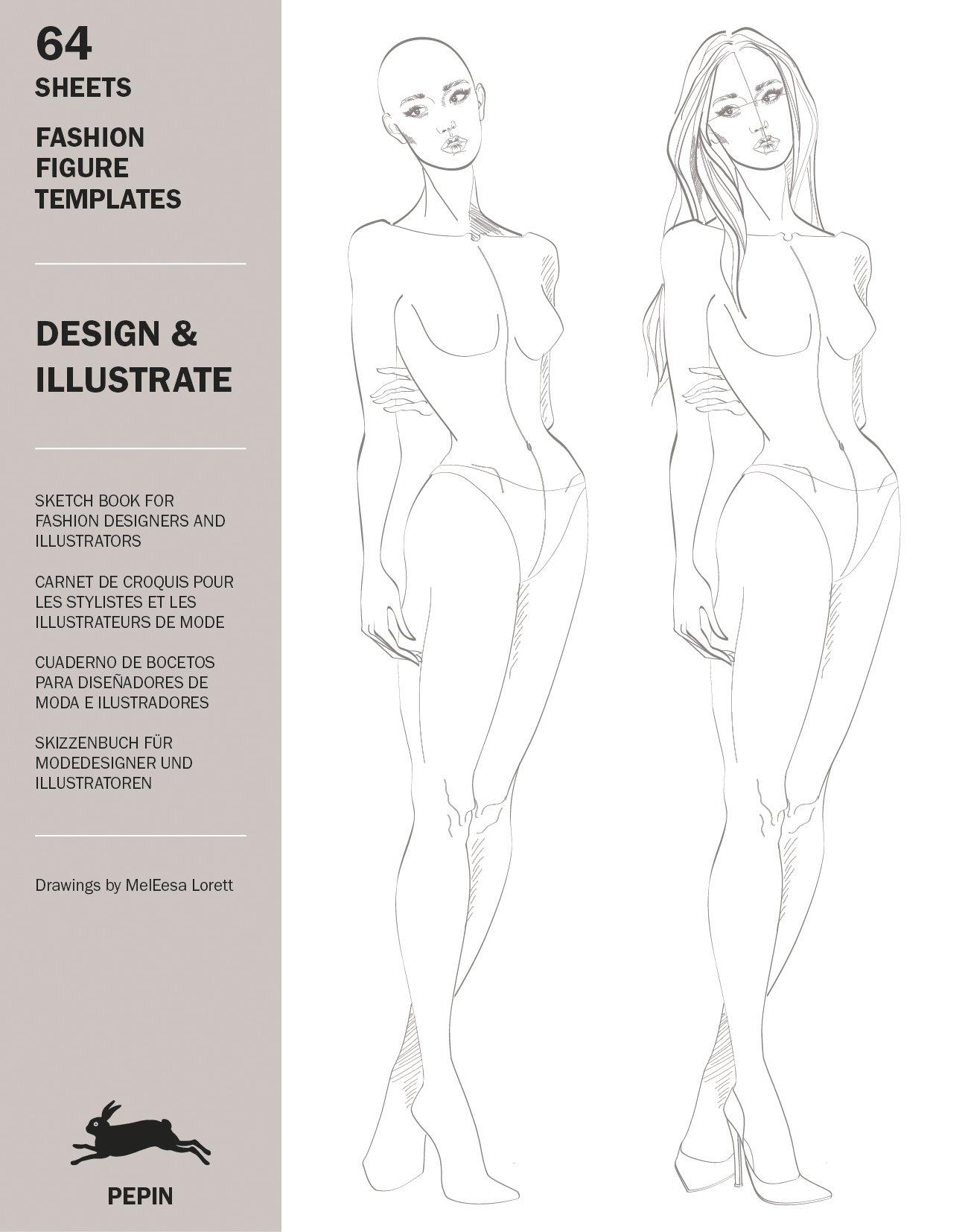 Design Ilustrate Fashion Figure Templates Multilingual Edition English Spanish French And German Edition Pepin Van Roojen Meleesa Lorett 9789460098383 Amazon Com Books