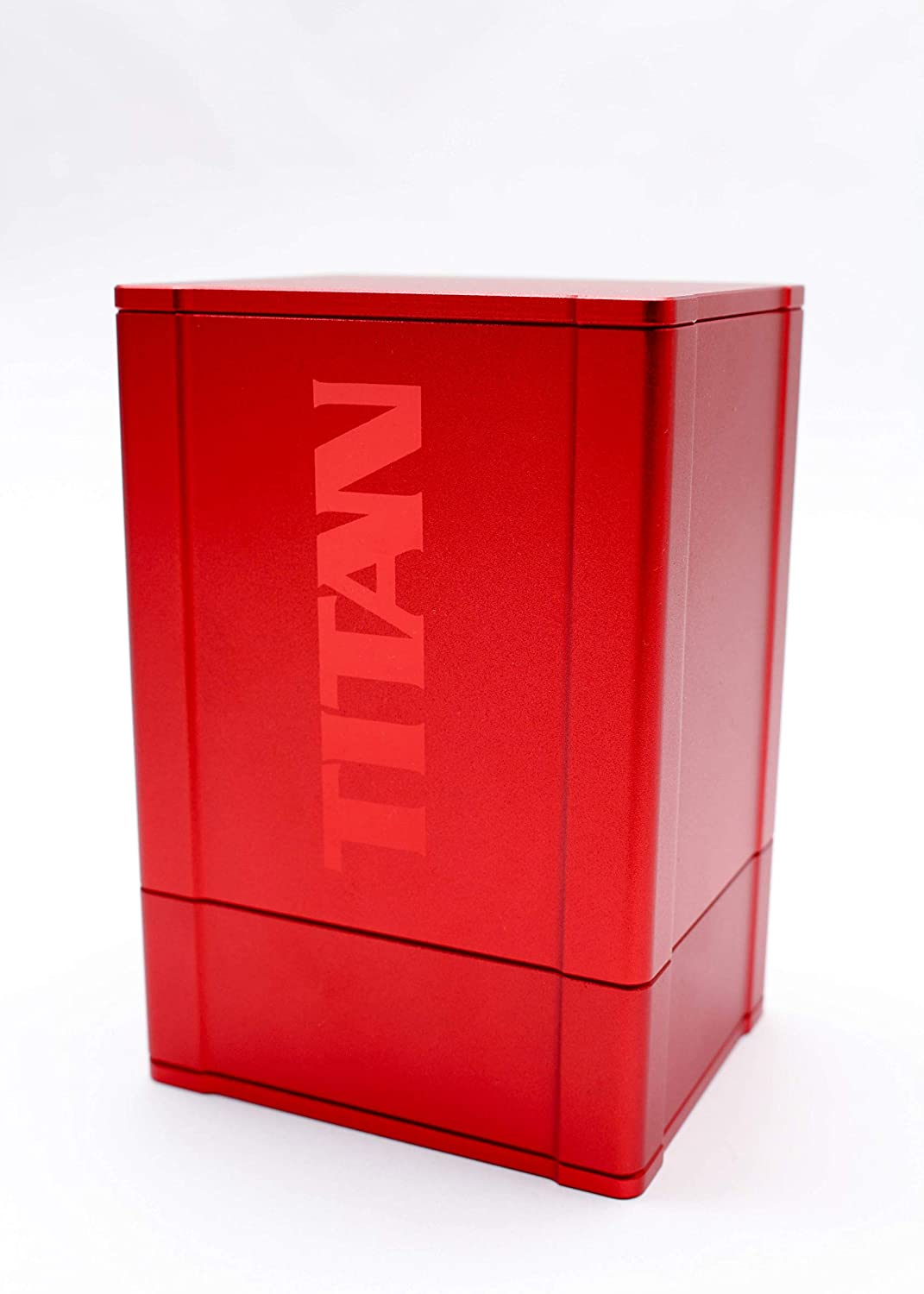 Red Satin Titan Solid Box Gods Premium High Strength Deck Box Case Protector