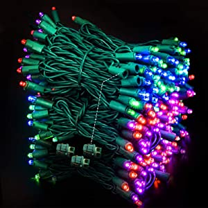 MZD8391 Upgraded Stay-On 66FT 200 LEDs Christmas String Lights Outdoor Indoor - 100% UL Certified - for Wedding, Party, Patio, Porch, Backyard, Garden Decoration (Multi-Color)