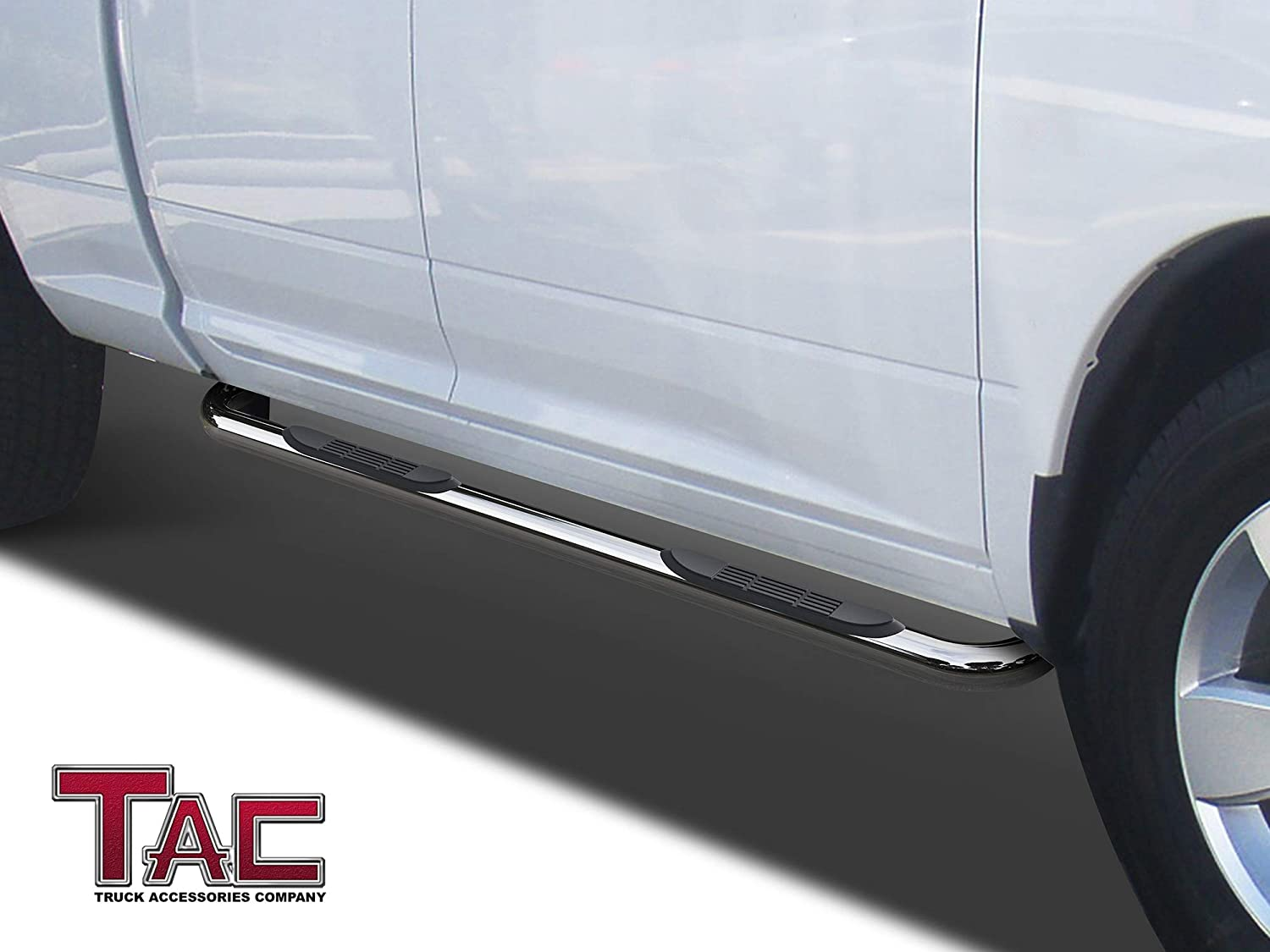 "Excl. 2019 Ram 1500 Classic TAC Side Steps Running Boards Fit 2019 Dodge Ram 1500 Crew Cab Truck Pickup 3/"" Black Side Bars Nerf Bars Step Rails Running Boards Off Road Exterior Accessories 2 Pieces"