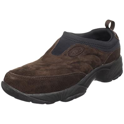 Propet Mens M3850 Washable Moc Walking ShoeBrownieBlack7