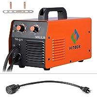 Hitbox MIG Welder 120A 110 / 220V AC Mini inversor 40% Ciclo de trabajo Soldadura sin gas Máquina de soldadura con antorcha Mig Tierra Clamp 0.8mm Flux Core