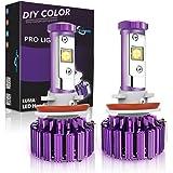 MICTUNING H11, H8, H9 Cree LED Headlight Bulbs - 60W 6,000Lm White(6,000K) Plug & Play Conversion Kit - 2 Year Warranty
