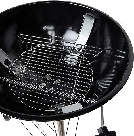 Berndes P501960-Griglia a carbonella per Barbecue in Acciaio Inox BBQ Charcoal Grill 55 x 54 x 102 cm Nero