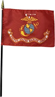 product image for 4x6 E-Gloss United States Marine Corps (USMC) Stick Flag - Flag Only - Qty 1