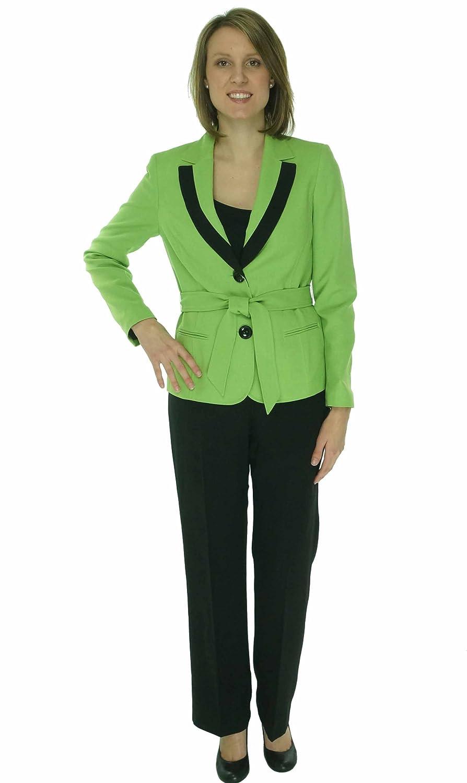Le Suit Women's Tuileries Citrine/Black Pant Suit 16