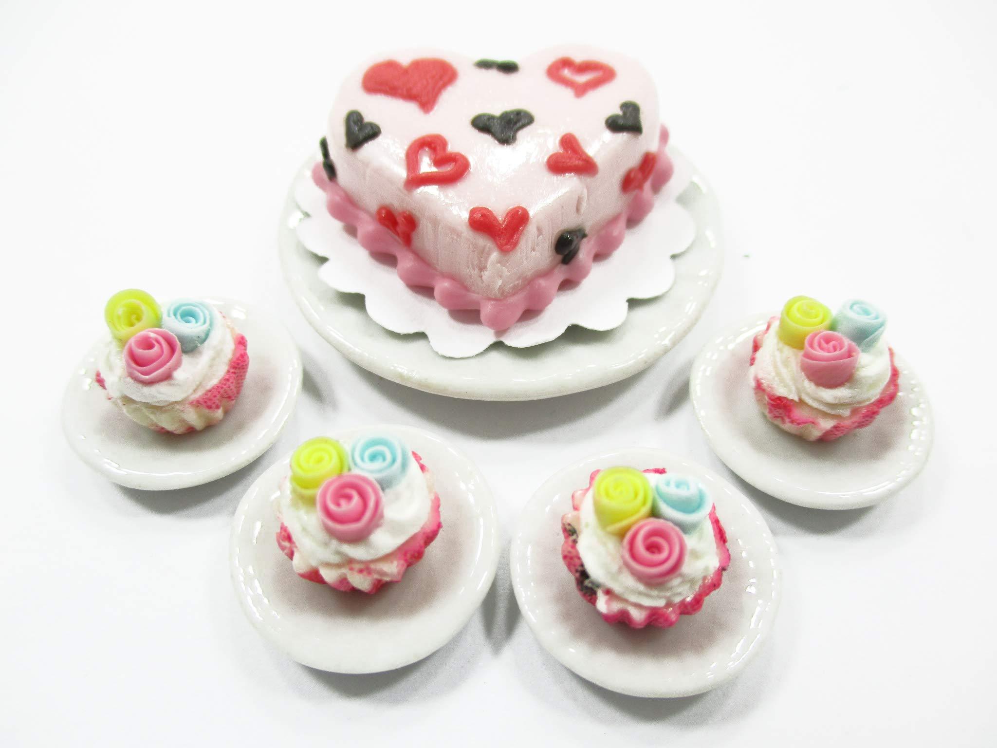 Dollhouse Miniature Food Christmas 1.5 cm Mini Cake Cupcake Ceramic Plate 15503