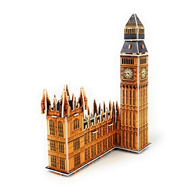 TriPro 3D Jigsaw Puzzle Worlds Greatest Architecture DIY Model Set London Big Ben: Toys & Games