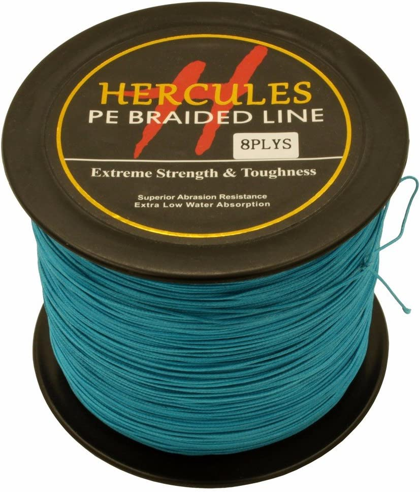 HERCULES PE Fishing Line 500m 547yards -10lb to 300lb – 8X Strands – 15 Colors Available