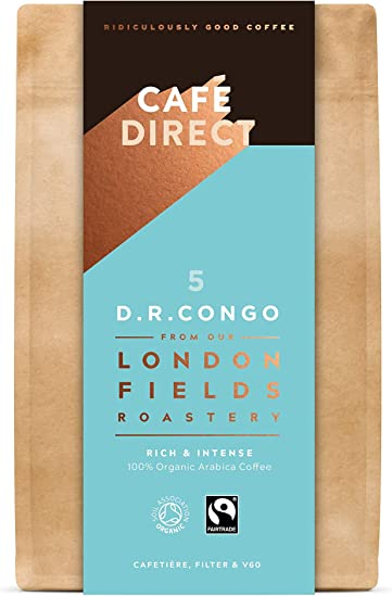 Cafédirect London Fields Organic Fairtrade Congo Ground Arabica Coffee 200g (Pack of 6): Amazon.co.uk: Grocery