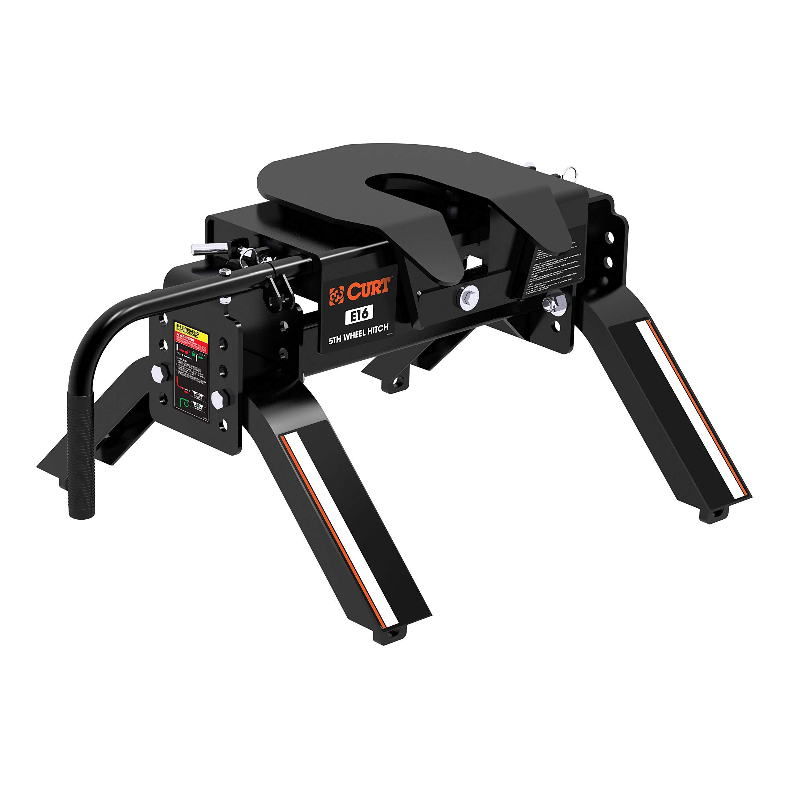 CURT 16115 Black E16 5th Wheel Hitch, 16,000 lbs.
