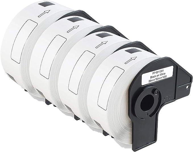 2 ROLLEN ETIKETTEN 29x90mm STANDARD für BROTHER P-touch QL-650 QL-650TD