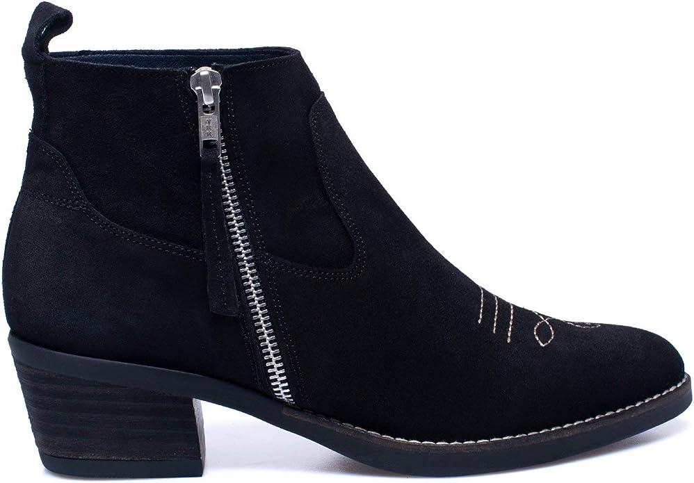 Zapatos miMaO. Zapatos Piel Mujer Hechos EN ESPAÑA. Botines Cowboy ...