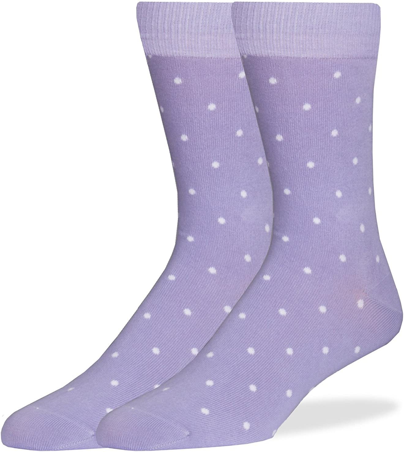 SPREZZA Men's Polka Dot Dress Socks, Cotton, Size 9-13, Assorted Colors