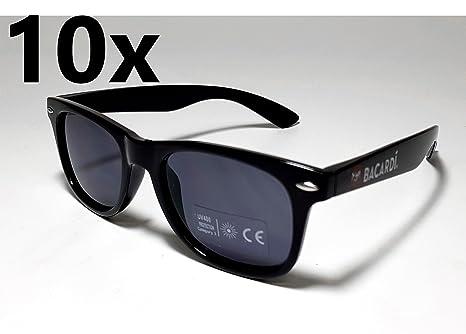 Bacardi Sonnenbrille Wayfarer Nerd Brille UV 400 Schutz - 10er Set oyNwDNLNX
