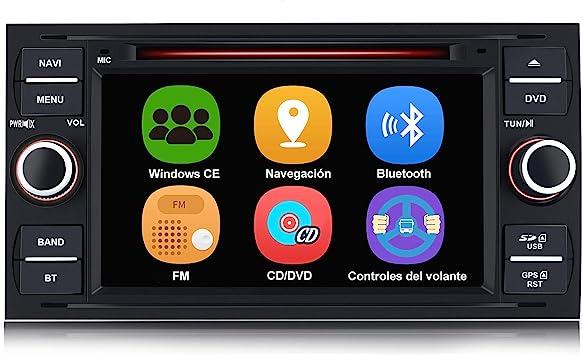 AWESAFE Radio Coche 7 Pulgadas para Ford con Pantalla Táctil 2 DIN ...