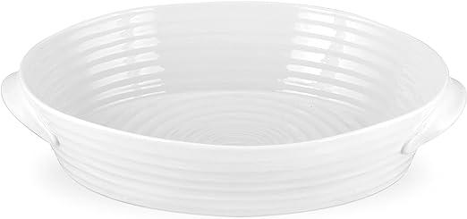 Portmeirion Sophie Conran Whte Medium Handled Oval Roasting Dish