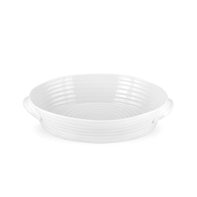 Portmeirion Sophie Conran White Small Handled Oval Roasting Dish Portmeirion USA 543829