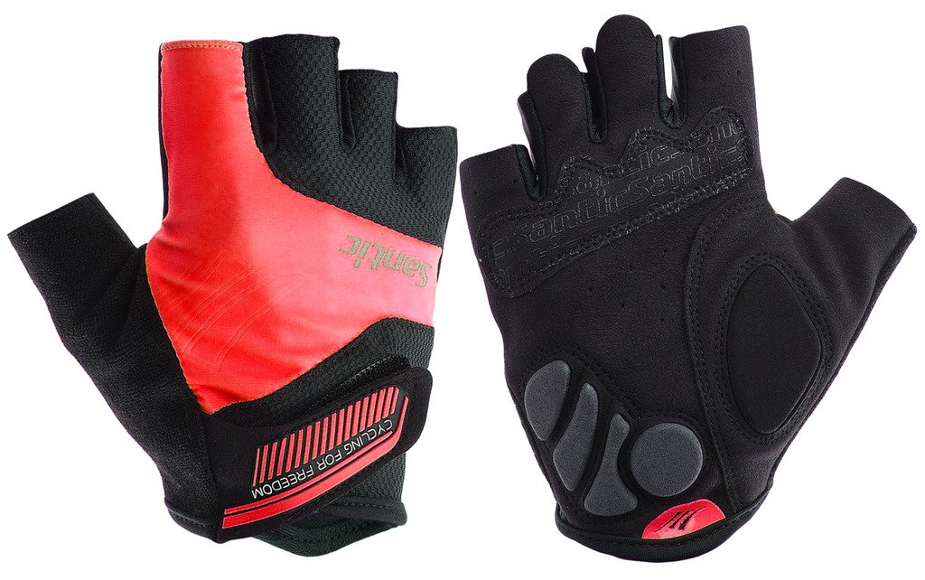 SANTIC Cycling Gloves with Mitten Shock-Absorbing Foam Pad Breathable Half Finger Moutain Bike Bicycle Riding Gloves for fit Men and Women Six Colors. SANTIC INC