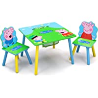 Delta Children Kids Table and Chair Set with Storage (2 Chairs Included) - Ideal for Arts & Crafts, Snack Time…