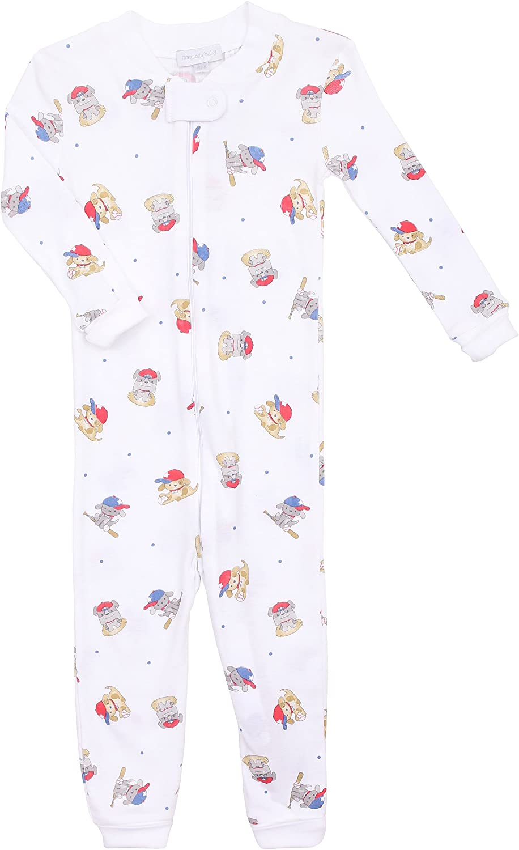 Magnolia Baby Baby Boy Little Slugger Zipped Pajamas Blue