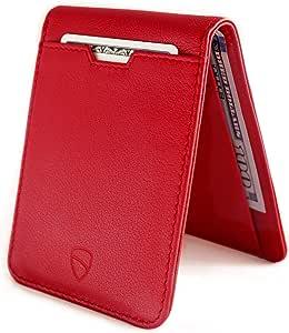 Vaultskin Manhattan slim bifold wallet with RFID protection (Carmine Red)