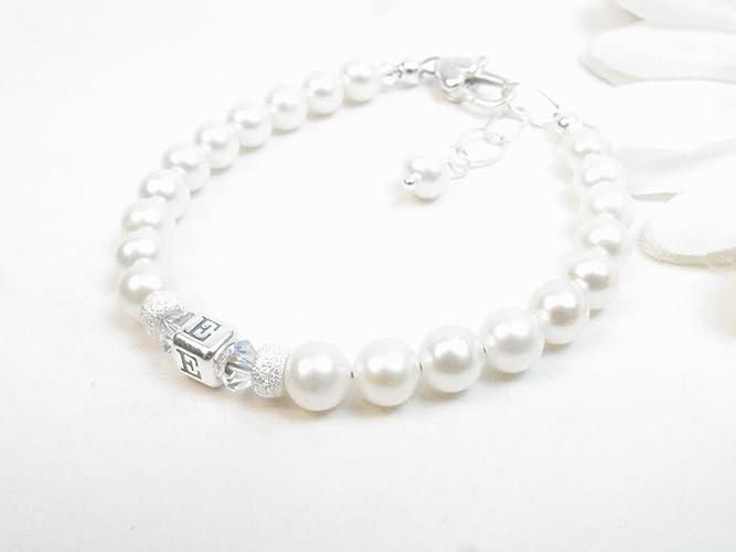 Amazon Com Baby Bracelet Baby Girl Bracelet Pearl Baby