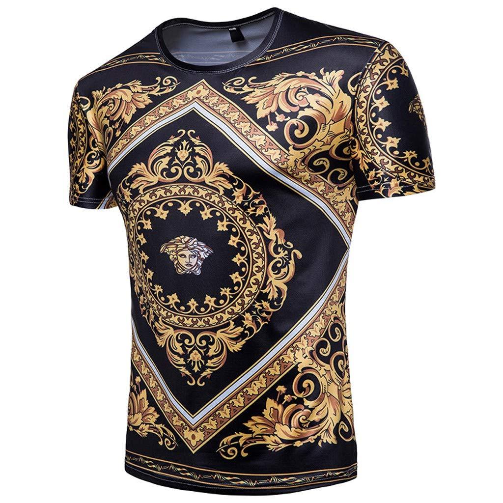 Men Spring Summer Slim Fit Short Sleeve Men/'s Casual Top Blouse Shirts Short Sleeve Shirts T-Shirt Polo Shirts
