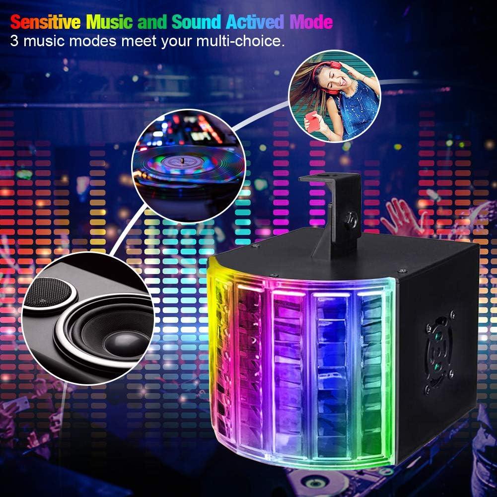 Litake Luces de discoteca cumplea/ños boda DJ Stage Light DMX512 con sonido activado port/átil luces de fiesta con mando a distancia para fiestas de baile festival