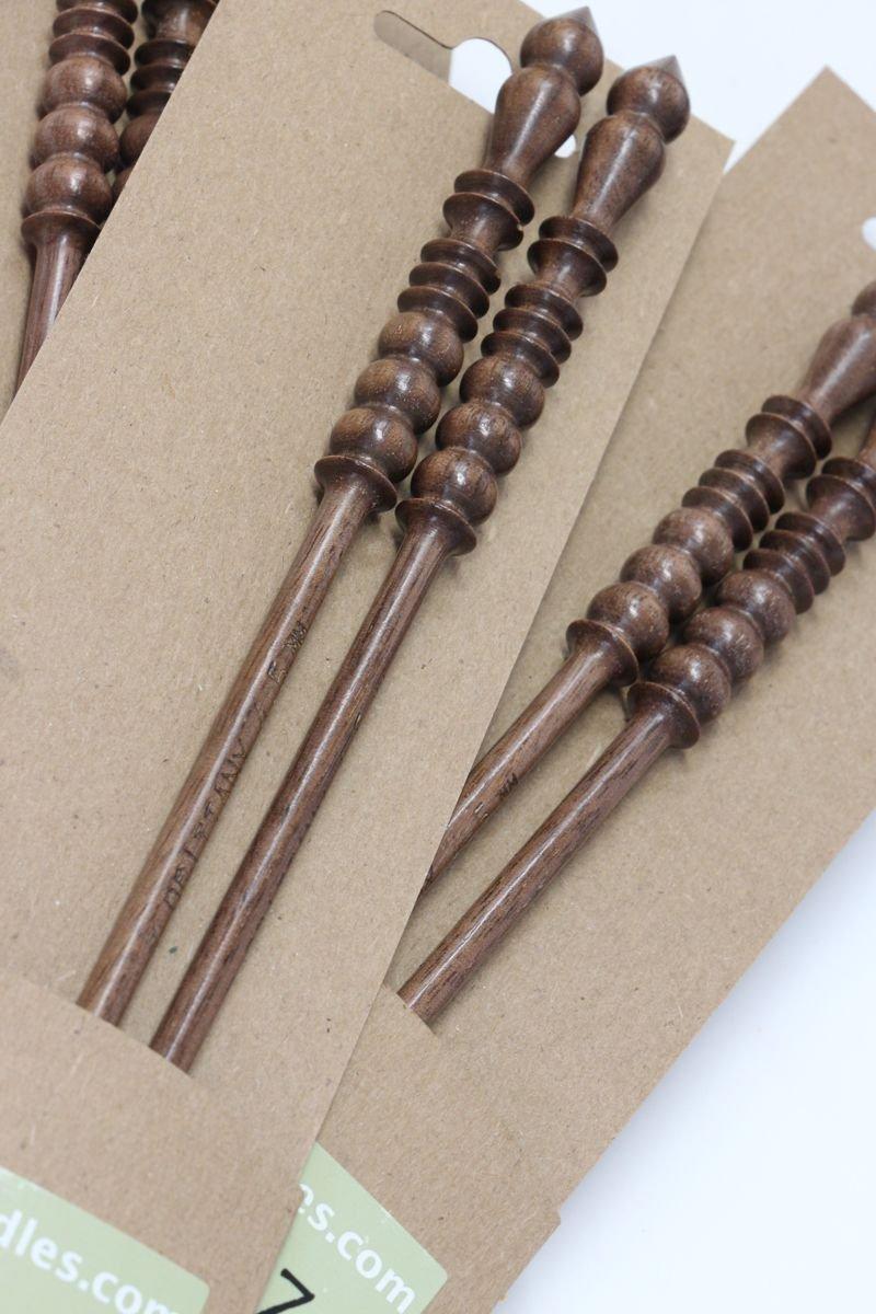 Brittany Black Walnut Single Point Needles (10'')