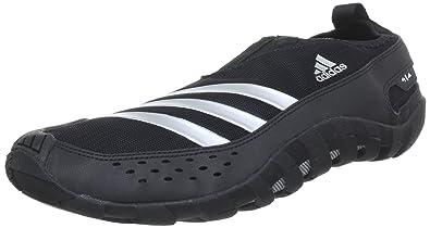 adidas JAWPAW II, sabots et mules homme - Noir (Black 1/Metallic Silver/Black 1), 42 EU