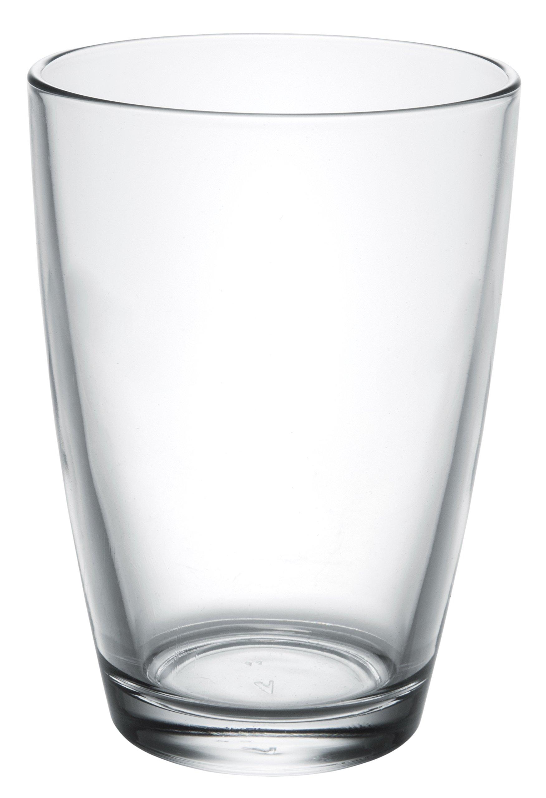 Vega Modern Clear Glass Tall Iced Tea Cups, Drinking Glasses Water Juice Soda Beverage Tumblers, Set of 6, 14 fl oz