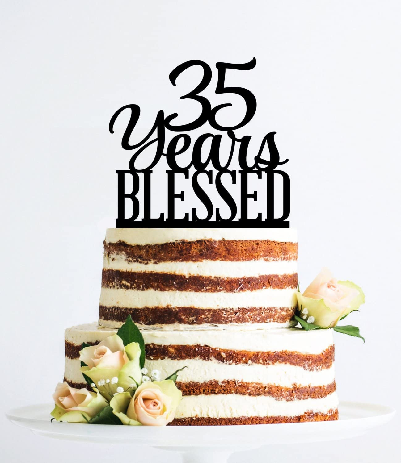 Fabulous 35 Years Blessed Cake Topper For Women And Men Classy 35Th Personalised Birthday Cards Sponlily Jamesorg