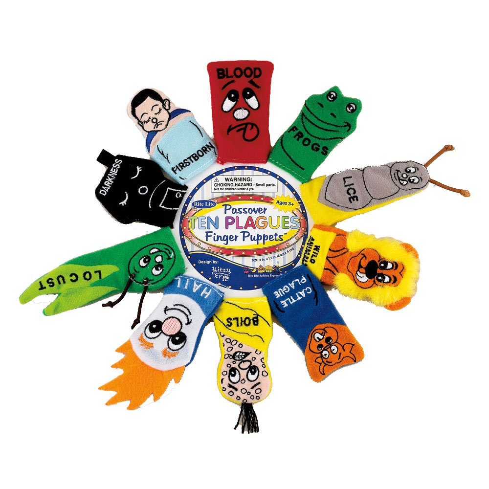 Amazon.com: Rite-Lite Judaic Plush Passover Finger Puppets, Set of 10: Home & Kitchen