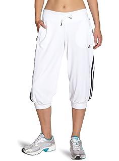 adidas Damen Essentials 3 Streifen 34 Hose Dreiviertel