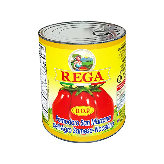 San Marzano DOP Tomato by Rega Pack of 5 (28 Ounce / 1 Pound 12 Ounce Each), Imported from Italy