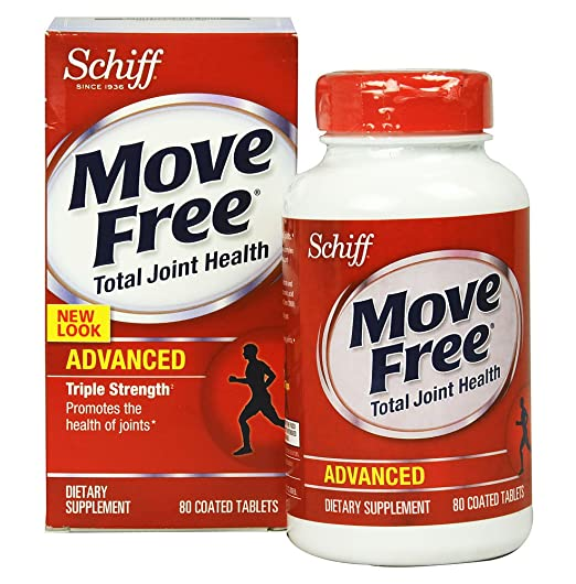Move Free Triple Strength Glucosamine Chondroitin and Hyaluronic Acid Joint Supplement, 510 Count , Move-toeh